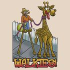 """Giraffe walkies"" by NHR CARTOONS ."