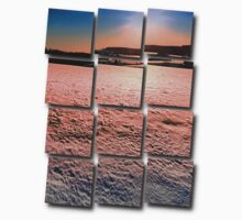 Snow, fields and a winter sunset | landscape photography One Piece - Short Sleeve