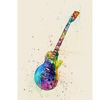 Electric Guitar Abstract Watercolor Photographic Print