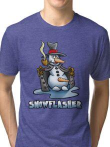 SNOWMAN FLASHER Tri-blend T-Shirt