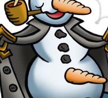 SNOWMAN FLASHER Sticker
