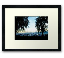 The Silence of a Silhouetted Sunset Framed Print