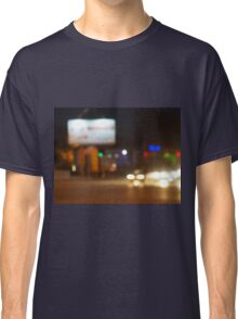Defocused lights on the stream of cars Classic T-Shirt