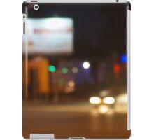 Defocused lights on the stream of cars iPad Case/Skin