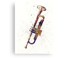 Trumpet Abstract Watercolor Canvas Print