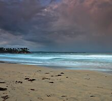 Stormy Skies, stormy waters by bazcelt