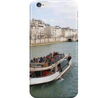 Paris excursion boat, France iPhone Case/Skin