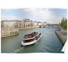 Paris excursion boat, France Poster