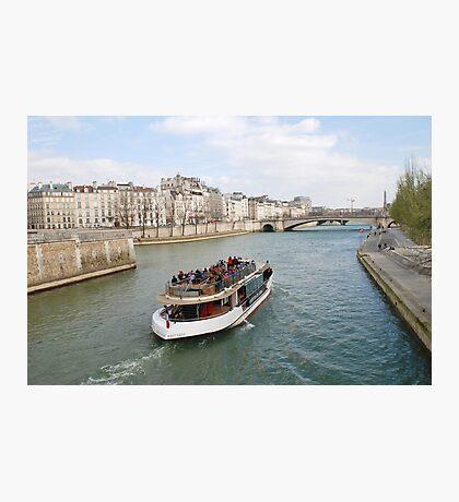 Paris excursion boat, France Photographic Print