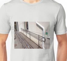 Ramp for physically challenged at the entrance Unisex T-Shirt