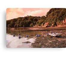 Riverside Thatched Cottage Canvas Print