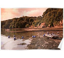 Riverside Thatched Cottage Poster