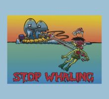 HURT MUCH? WHALE TEE by NHR CARTOONS .
