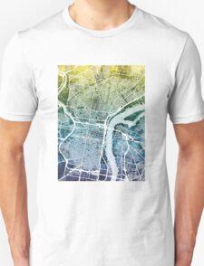 Philadelphia Pennsylvania City Street Map Unisex T-Shirt