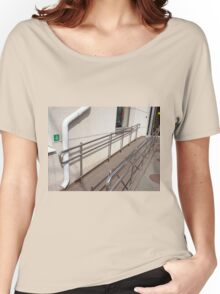 Ramp for physically challenged with metal railing Women's Relaxed Fit T-Shirt