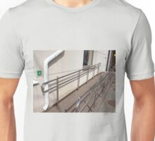 Ramp for physically challenged with metal railing Unisex T-Shirt