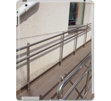Ramp for physically challenged with metal railing iPad Case/Skin
