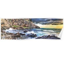 Dramatic Seascape Panorama Poster