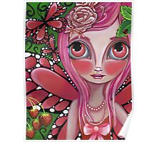 """Strawberry Butterfly Fairy"" Poster"