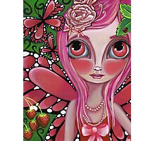 """""""Strawberry Butterfly Fairy"""" Photographic Print"""