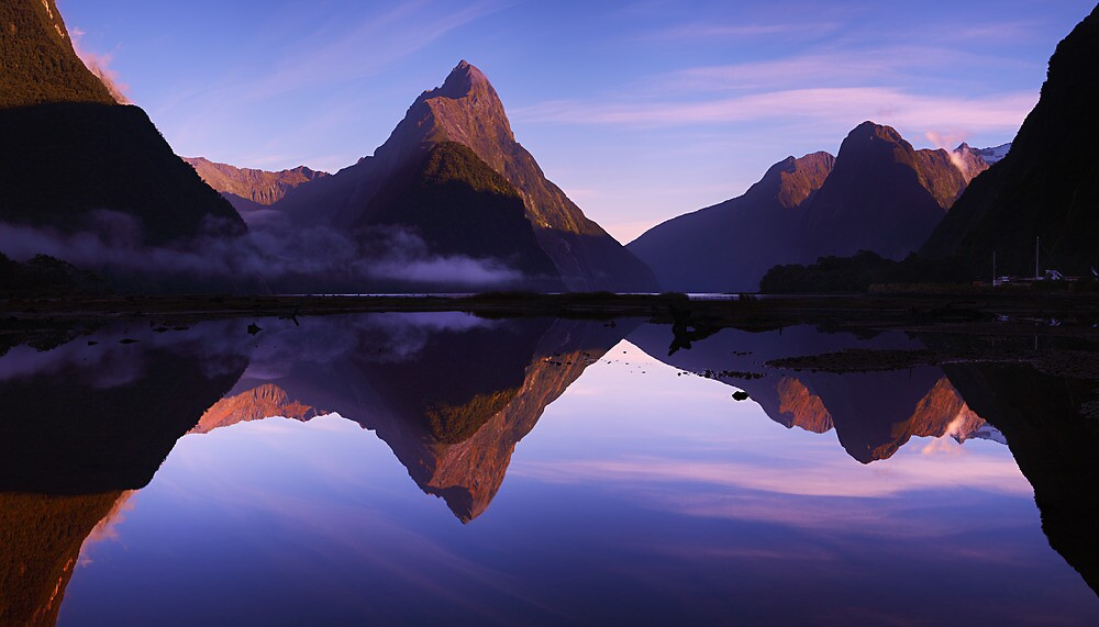 Mitre Peak sunrise - New Zealand by Mark Shean
