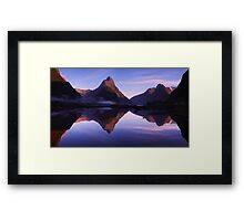 Mitre Peak sunrise - New Zealand Framed Print