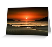 Waves at dawn Greeting Card
