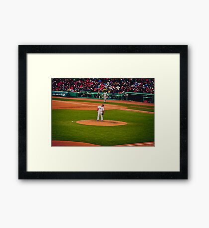 Shipping up to Boston Framed Print