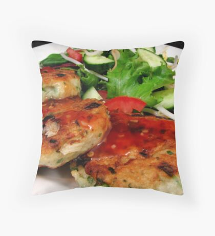 Thai fish Cakes Throw Pillow