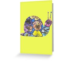 Pansy Snail Greeting Card