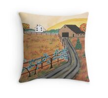 Blueberry Farm Throw Pillow