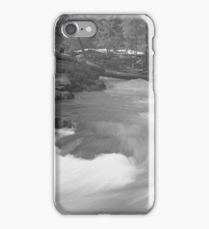 Snow in the woods iPhone Case/Skin