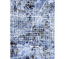 Las Vegas City Street Map Photographic Print