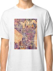 Seattle Washington Street Map Classic T-Shirt