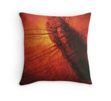 Beauty in the Breakdown - Red Throw Pillow