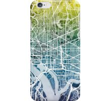 Washington DC Street Map iPhone Case/Skin