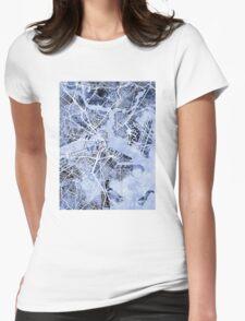 Boston Massachusetts Street Map Womens Fitted T-Shirt
