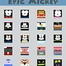 Minimalistic Epic Mickey by Bitedaily