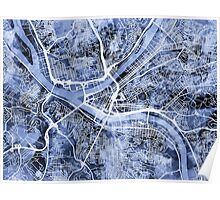 Pittsburgh Pennsylvania Street Map Poster