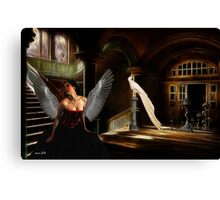 The angel woman. Canvas Print