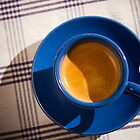 Blue coffee cup by Mario Brandao