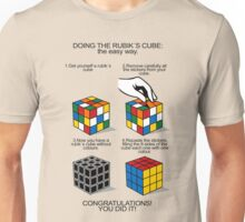 Rubik's Cube:The easy way Unisex T-Shirt
