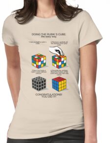 Rubik's Cube:The easy way Womens Fitted T-Shirt