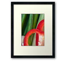 Pepper Abstract2 Framed Print