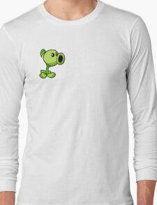 Peashooter Plants Versus Zombies Long Sleeve T-Shirt