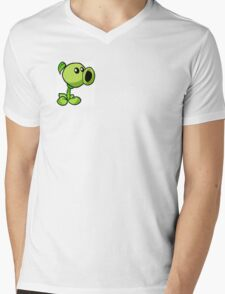 Peashooter Plants Versus Zombies Mens V-Neck T-Shirt