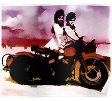 A Girl, a Bike and Her Shadow Poster