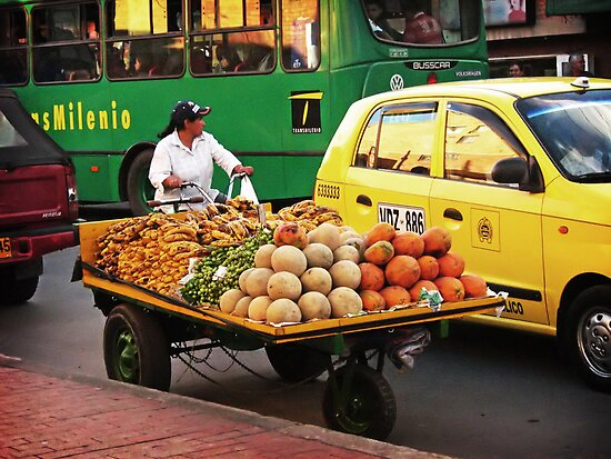 Fruit Seller by Maria  Gonzalez