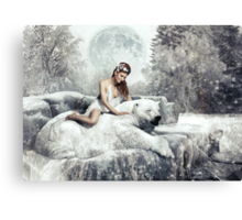 Beauty & The Bear Canvas Print