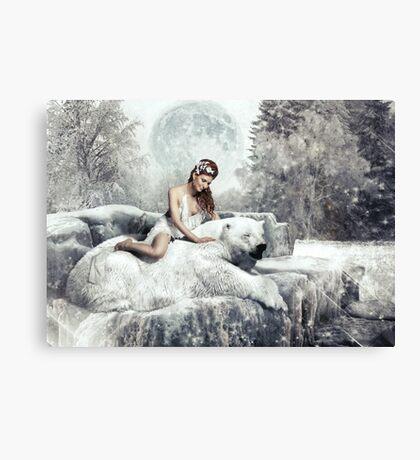 Beauty & The Bear Canvas Print